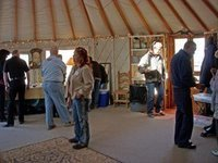 Breakfast club is held in yurts, homes, cabins, tipis, you name it!