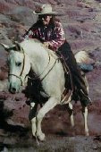 Whinny galloping up Blue Hill, Ghost Ranch, Abiquiu NM; before equine melanoma