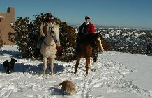 At Makarios Ranch we ride in winter when the weather permits.  Experienced Horseback Rides every day of the year!